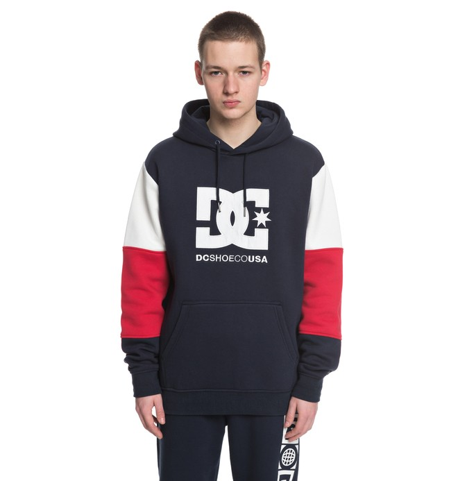 0 Men's Doney Hoodie Blue EDYFT03352 DC Shoes