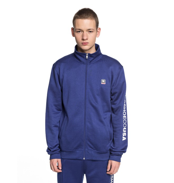 0 Men's Heggerty Track Tracksuit Jacket Blue EDYFT03353 DC Shoes