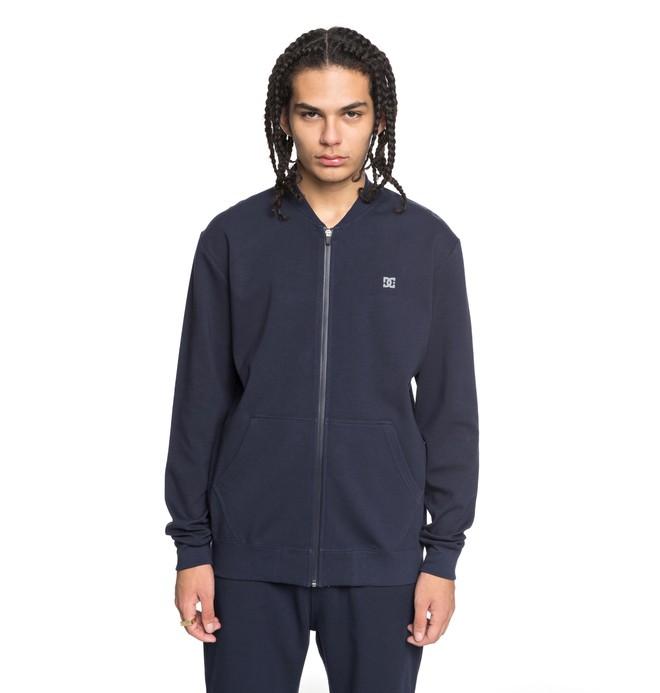 0 Men's Glenties Zip Up Sweatshirt Blue EDYFT03359 DC Shoes
