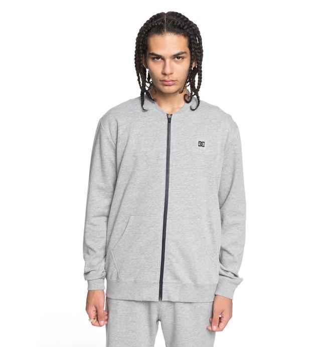 0 Men's Glenties Zip Up Sweatshirt Black EDYFT03359 DC Shoes
