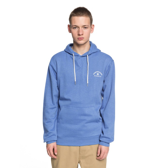 0 Men's Rebel 3 Hoodie Blue EDYFT03360 DC Shoes