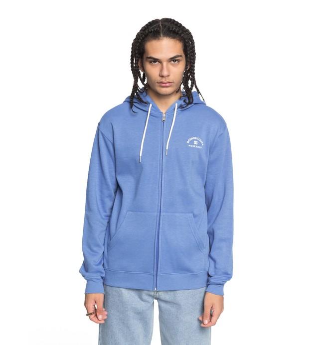 0 Men's Rebel Zip Up Hoodie Blue EDYFT03369 DC Shoes