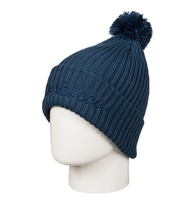 0 Men's Trilogy Bobble Hat Blue EDYHA03050 DC Shoes