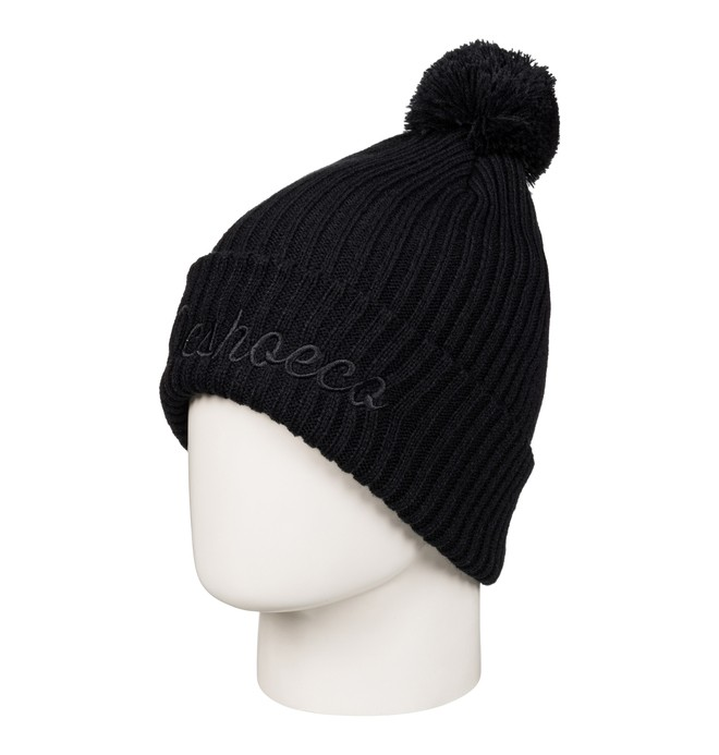 0 Men's Trilogy Bobble Hat Black EDYHA03050 DC Shoes