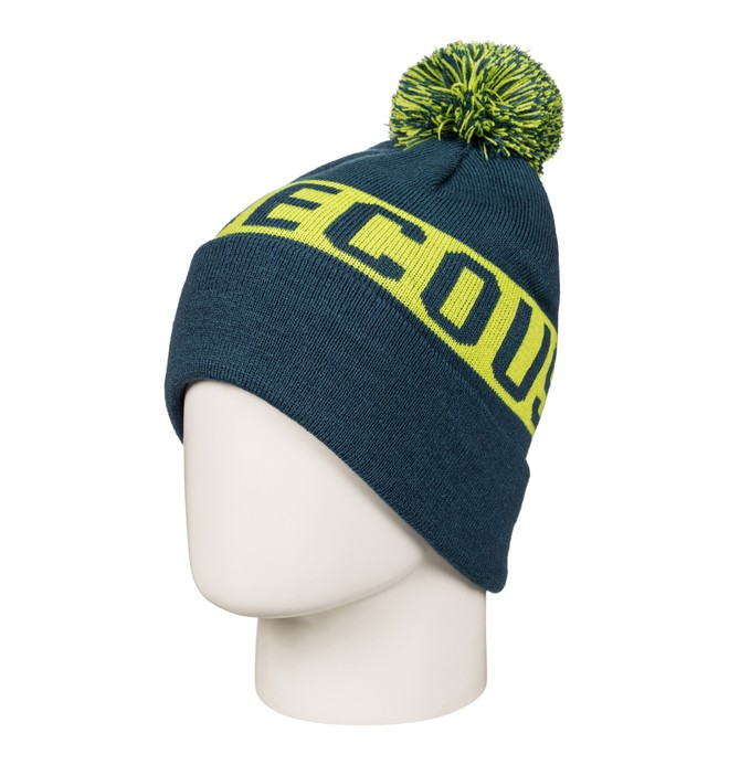0 Chester - Bobble Hat Blue EDYHA03057 DC Shoes