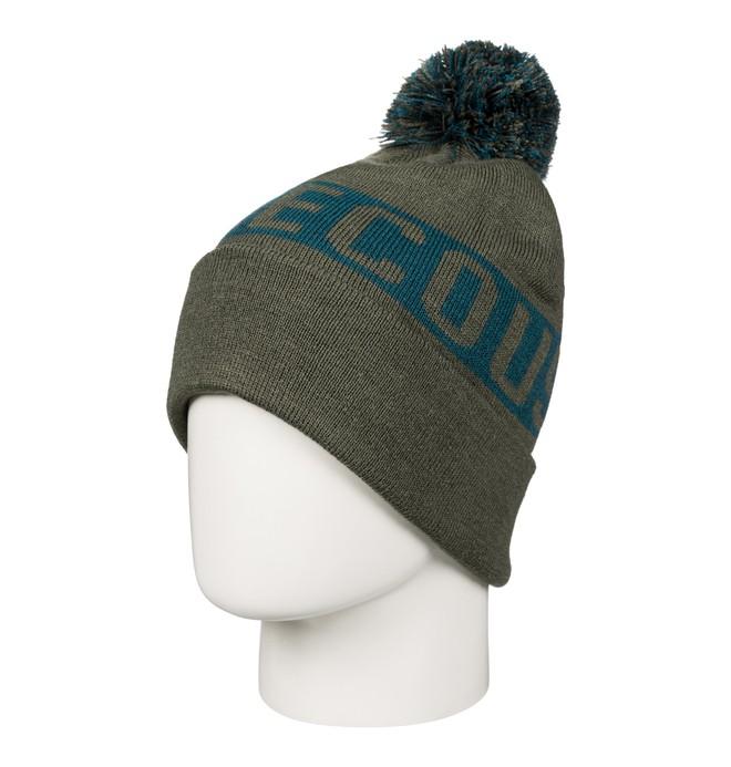 0 Men's Chester Bobble Hat Green EDYHA03057 DC Shoes
