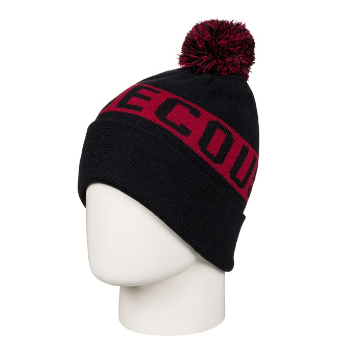 0 Men's Chester Bobble Hat Black EDYHA03057 DC Shoes