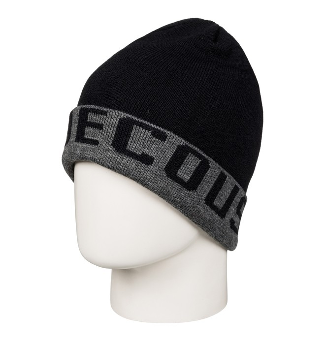 0 Bromont - Reversible Cuff Beanie Black EDYHA03058 DC Shoes