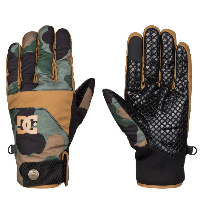 0 Antuco - Snow Gloves Green EDYHN03015 DC Shoes