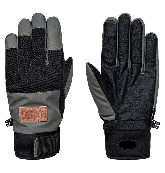 0 Men's Cold War Snow Gloves Black EDYHN03029 DC Shoes