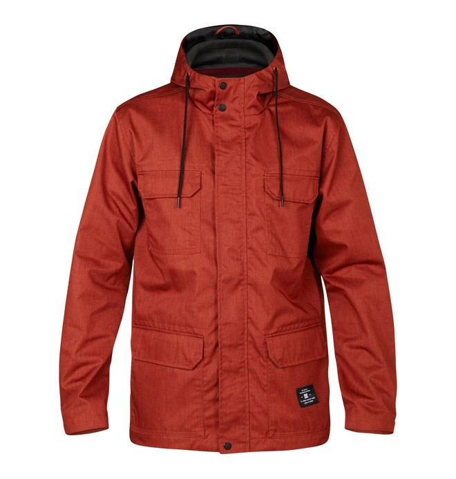 0 Mastadon Jacket Orange EDYJK03001 DC Shoes