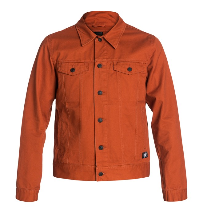 0 Men's Dean Jacket Orange EDYJK03003 DC Shoes