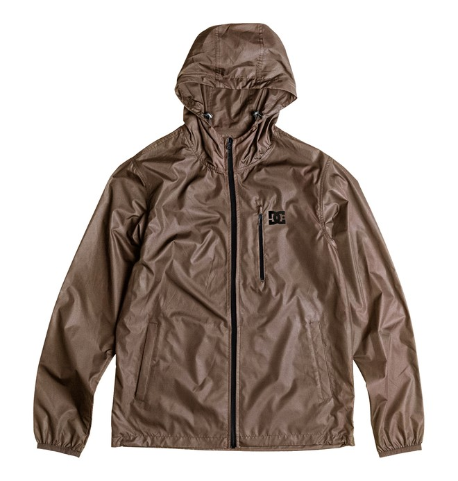 0 Men's Dagup Water Repellent Windbreaker Jacket Brown EDYJK03020 DC Shoes