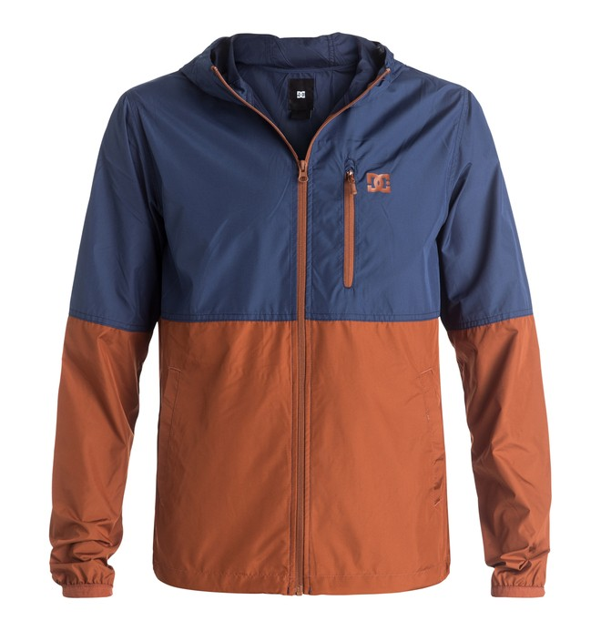 0 Men's Dagup Block Windbreaker Orange EDYJK03061 DC Shoes