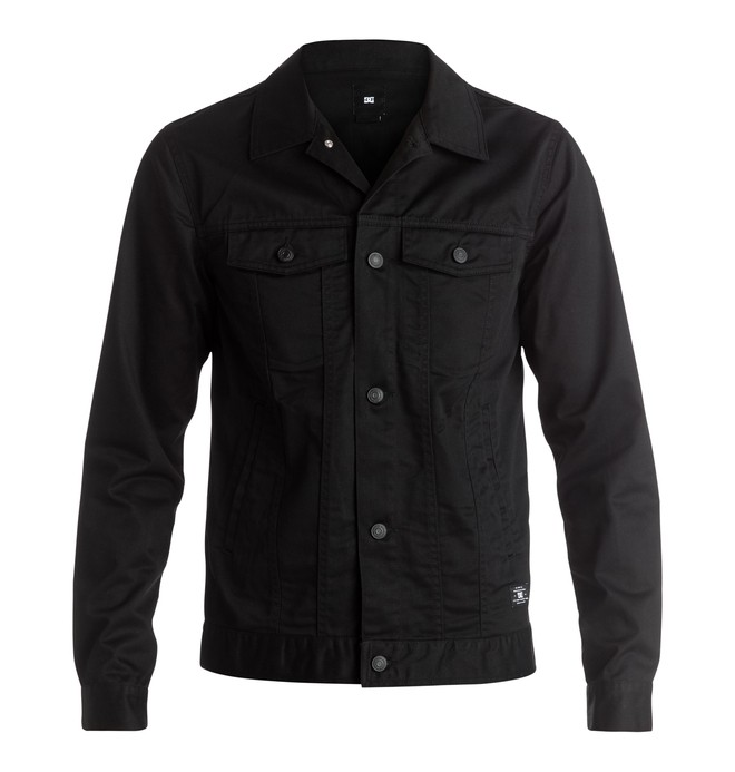 0 Wallsend - Denim Jacket Black EDYJK03106 DC Shoes