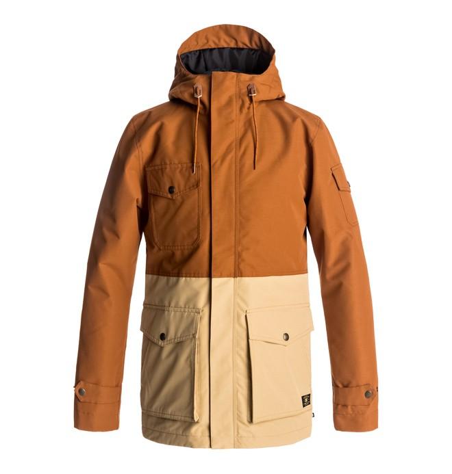 0 Men's Tick Snow Jacket Brown EDYJK03117 DC Shoes
