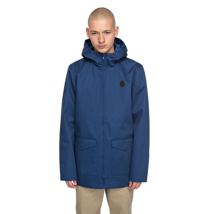 0 Men's Oxford Water Resistant Field Jacket Blue EDYJK03127 DC Shoes