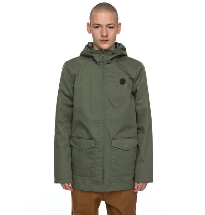 0 Men's Oxford Water Resistant Field Jacket Green EDYJK03127 DC Shoes