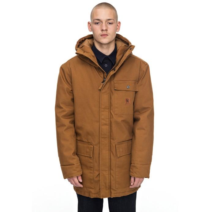 0 Men's Canongate Parka Jacket Orange EDYJK03135 DC Shoes
