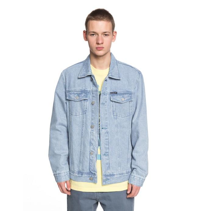 0 Men's Kinshaw Denim Jacket Blue EDYJK03146 DC Shoes