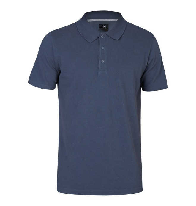 0 Men's Holborn Polo Shirt Blue EDYKT03002 DC Shoes