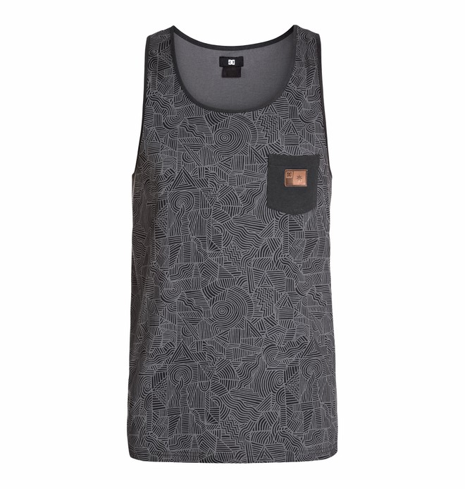 0 Men's Core Tank Print Knit Top  EDYKT03105 DC Shoes