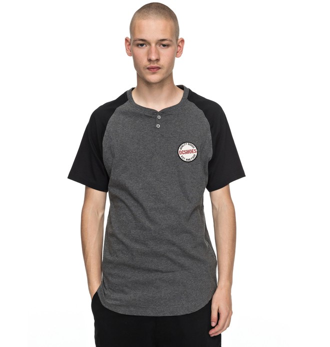 0 Toyone - Henley T-Shirt Black EDYKT03345 DC Shoes