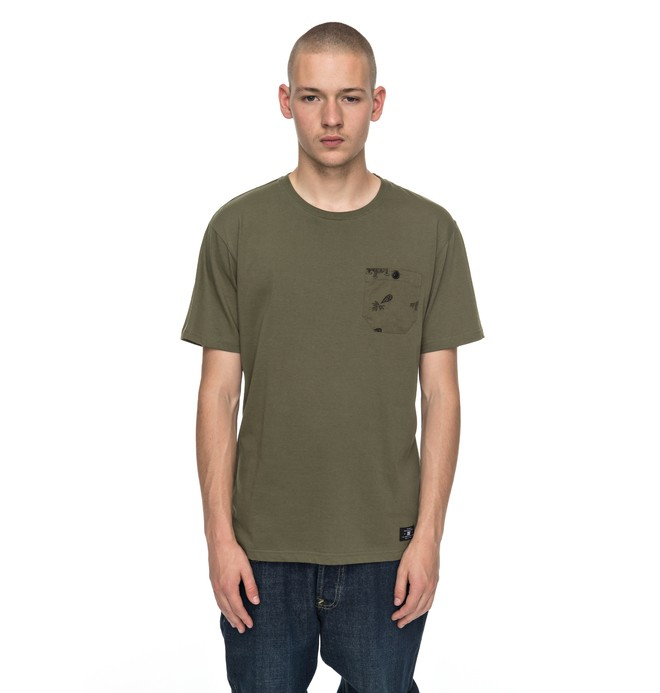 0 Waterglen - T-Shirt Green EDYKT03346 DC Shoes