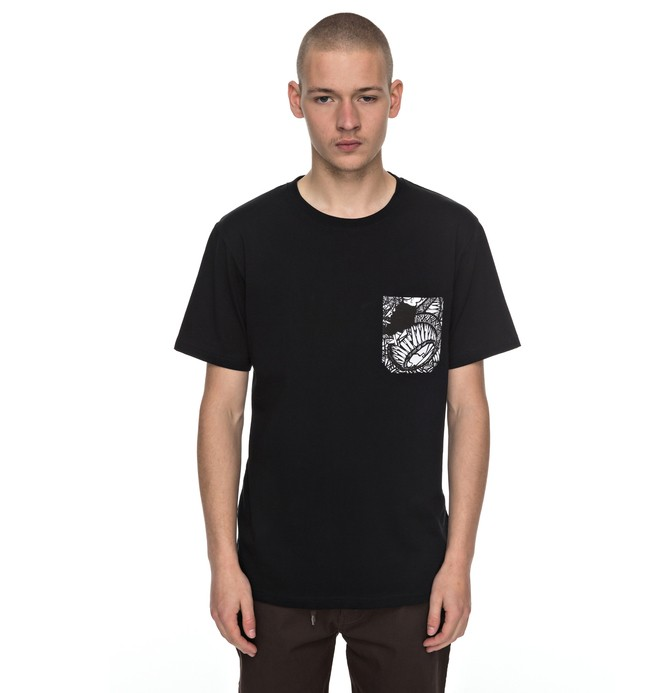 0 Darbotz - Pocket T-Shirt Noir EDYKT03355 DC Shoes