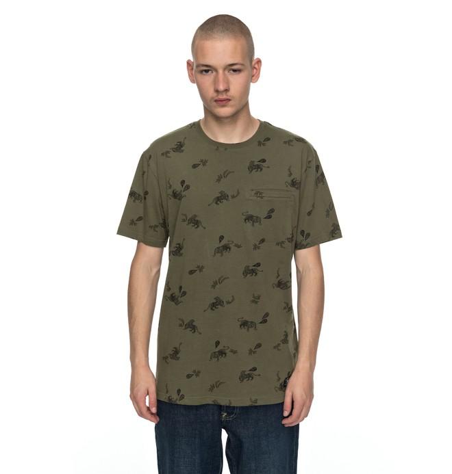 0 Pilkington - T Shirt Vert EDYKT03358 DC Shoes
