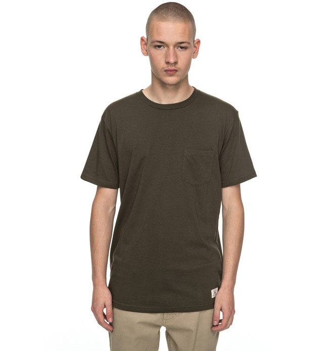 0 Basic - Pocket T-Shirt Brown EDYKT03360 DC Shoes