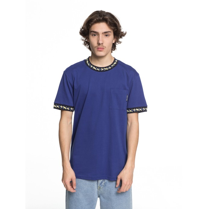0 Men's Dunbar Pocket Tee Blue EDYKT03372 DC Shoes