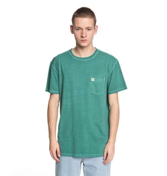 0 Men's Dyed Tee Green EDYKT03375 DC Shoes