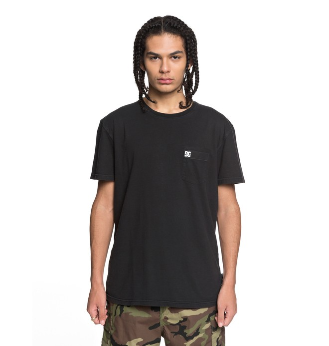 0 Men's Dyed Tee Black EDYKT03375 DC Shoes