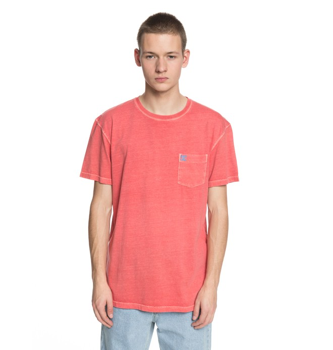 0 Men's Dyed Tee Pink EDYKT03375 DC Shoes