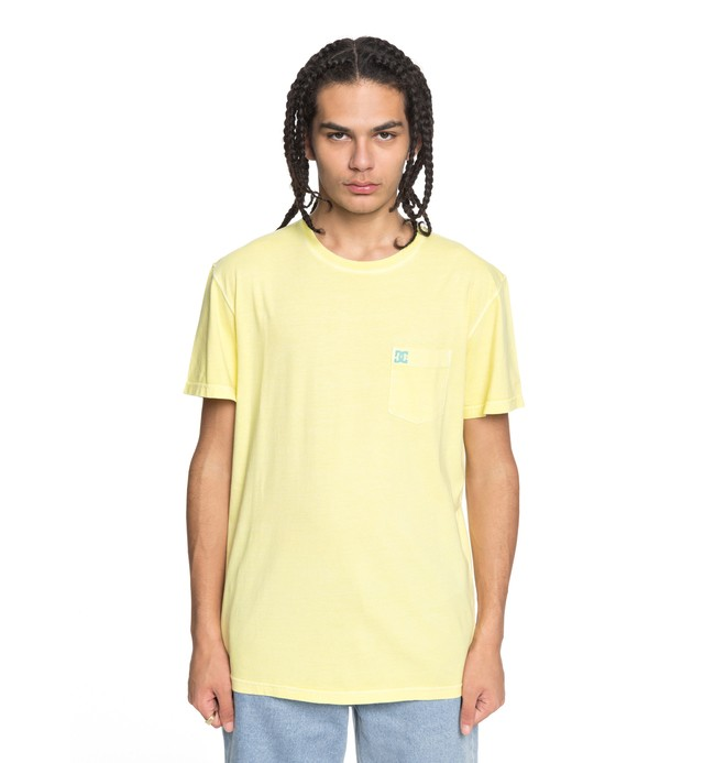 0 Men's Dyed Tee Yellow EDYKT03375 DC Shoes