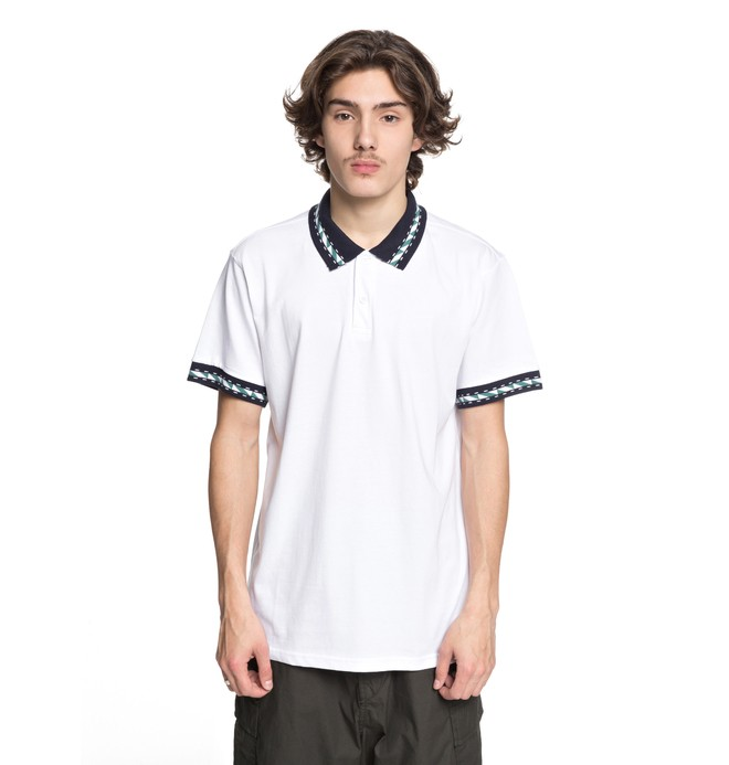 0 Men's Dunbar Polo Shirt White EDYKT03380 DC Shoes