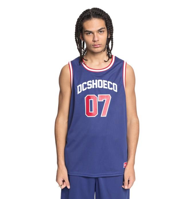 0 Men's Eglinton Basketball Tank Blue EDYKT03392 DC Shoes