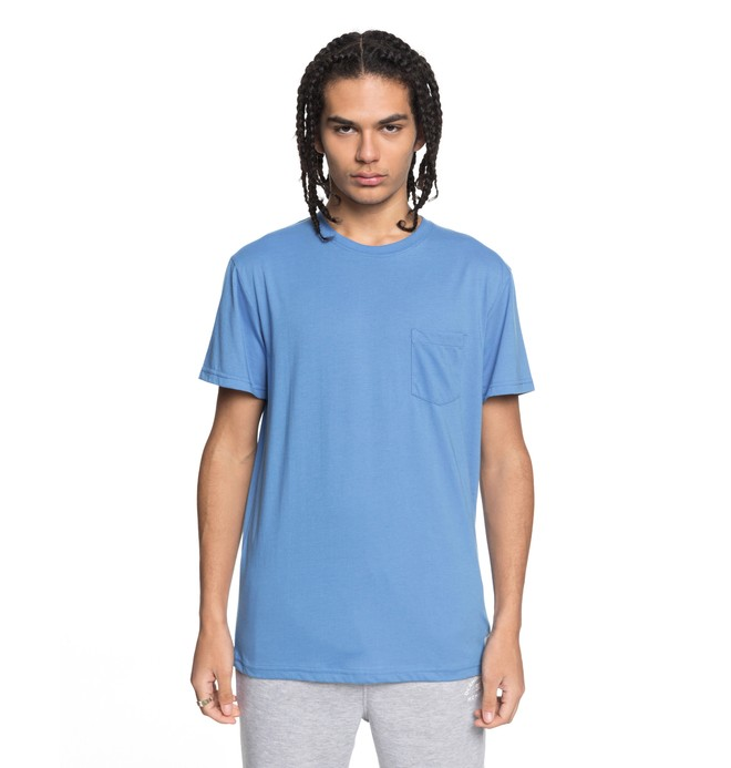 0 Men's Basic Pocket Tee Blue EDYKT03394 DC Shoes