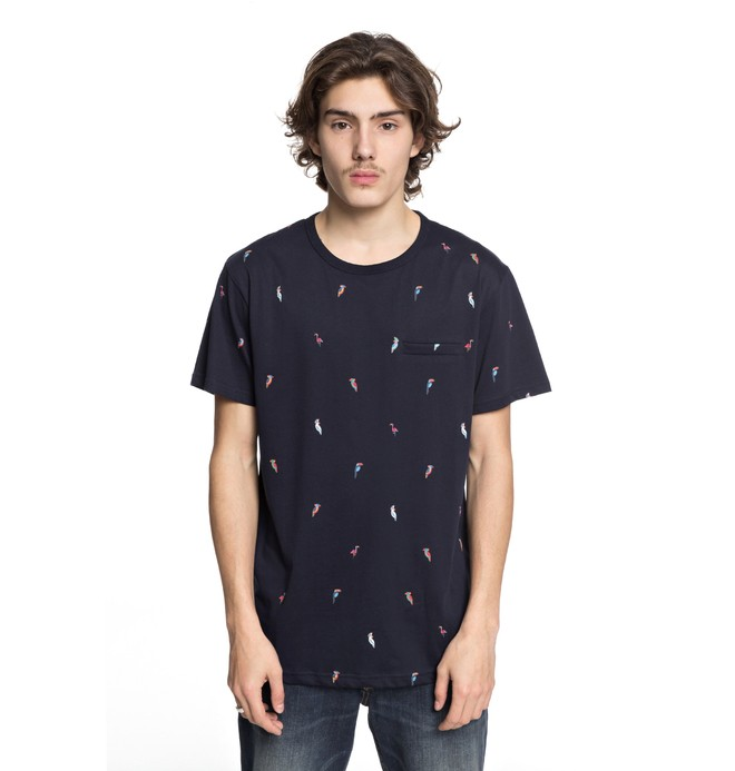 0 Men's 2Can Tee Blue EDYKT03396 DC Shoes