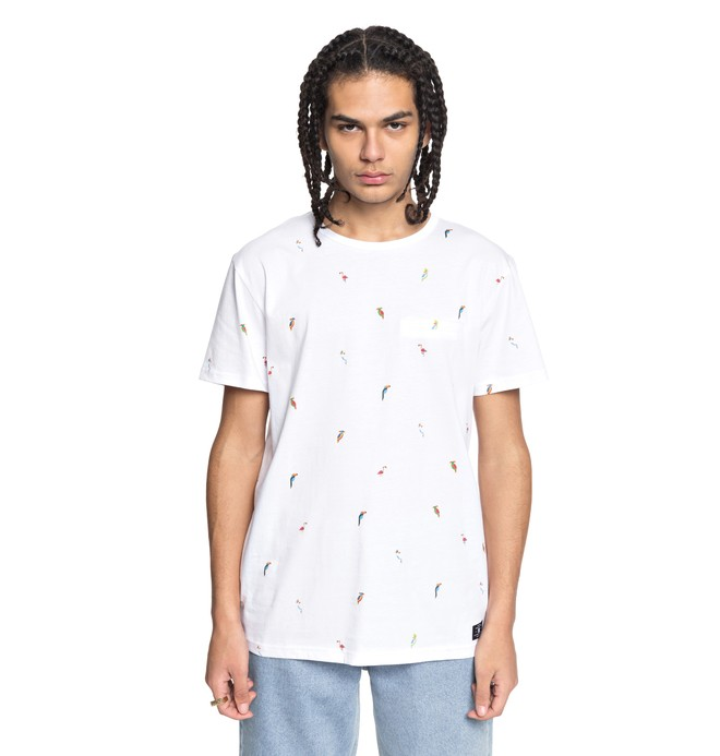 0 Men's 2Can Tee White EDYKT03396 DC Shoes