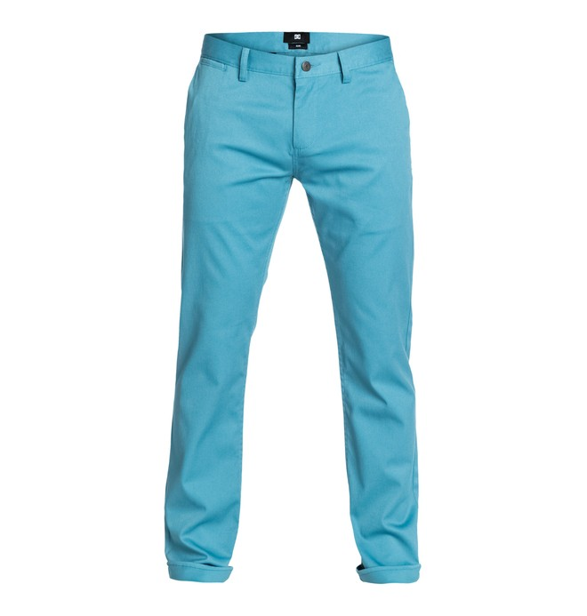 "0 DC Worker Slim 32"" Inseam   Pants Blue EDYNP03005 DC Shoes"