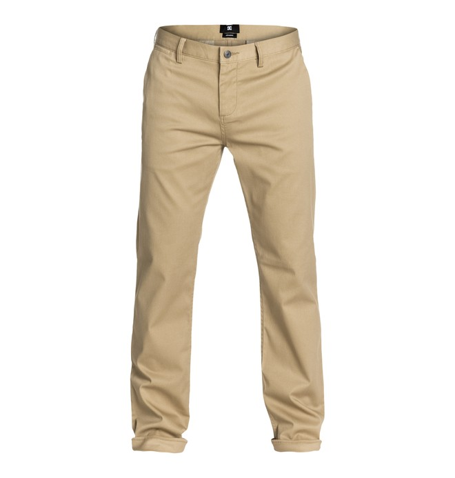 """0 DC Worker Straight 32"""" Inseam Pants Beige EDYNP03006 DC Shoes"""