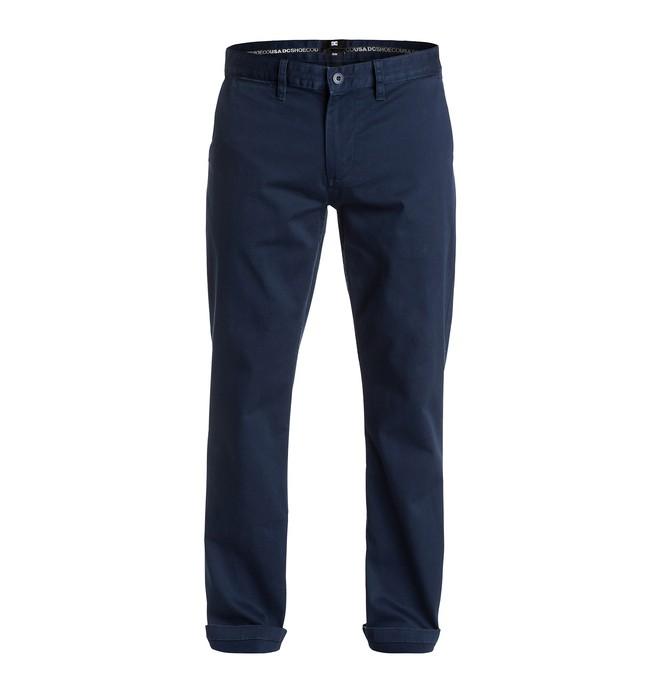 "0 Men's Worker Slim Fit Chino 32"" Pants  EDYNP03073 DC Shoes"