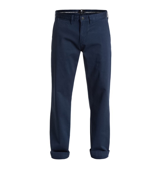 "0 Men's Worker Roomy Fit Chino 32"" Pants  EDYNP03077 DC Shoes"