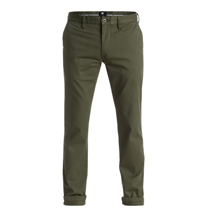 """0 Worker Slim Fit 32"""" - Chinos Green EDYNP03105 DC Shoes"""