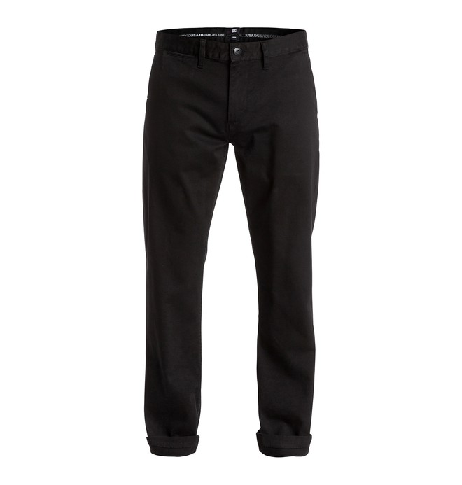 "0 Men's Worker Slim 32"" Chinos Black EDYNP03105 DC Shoes"