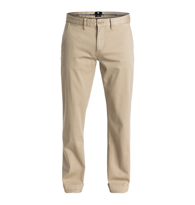 "0 Men's Worker Slim 32"" Chinos Beige EDYNP03105 DC Shoes"