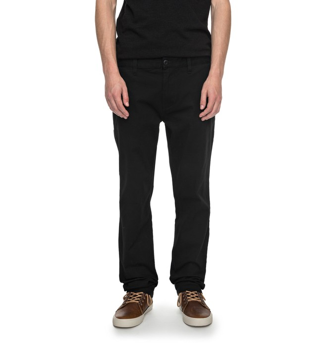 "0 Men's Worker Slim 32"" Chinos Black EDYNP03105 DC Shoes"