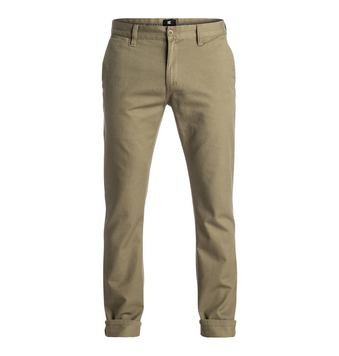"0 Worker Straight Fit Chino 32"" - Shorts Brown EDYNP03107 DC Shoes"